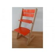 Detská rastúca stolička JITRO KLASIK bukovo oranžová