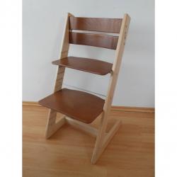 Detská rastúca stolička JITRO KLASIK bukovo orechová