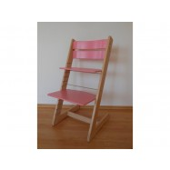 Dětská rostoucí židle JITRO KLASIK bukovo růžová