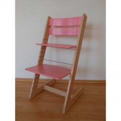 Detská rastúca stolička JITRO KLASIK bukovo ružová