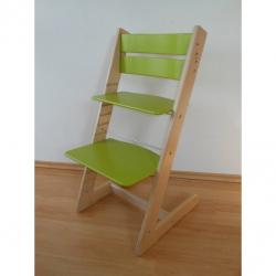 Dětská rostoucí židle JITRO KLASIK bukovo sv. zelená