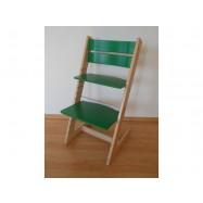 Detská rastúca stolička JITRO KLASIK bukovo zelená