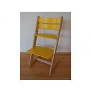 Detská rastúca stolička JITRO KLASIK bukovo žltá