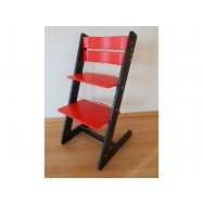 Detská rastúca stolička JITRO KLASIK čierno červená