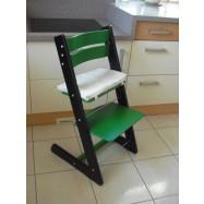 Dětská rostoucí židle JITRO KLASIK černo zelená