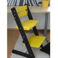 Detská rastúca stolička JITRO KLASIK čierno žltá