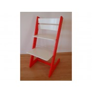 Detská rastúca stolička JITRO KLASIK červeno biela