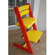 Detská rastúca stolička JITRO KLASIK červeno žltá