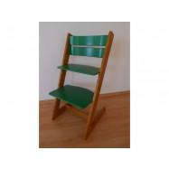 Dětská rostoucí židle JITRO KLASIK dubovo zelená