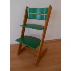 Detská rastúca stolička JITRO KLASIK dubovo zelená