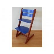 Dětská rostoucí židle JITRO KLASIK mahagonovo modrá