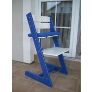 Dětská rostoucí židle JITRO KLASIK modro bílá