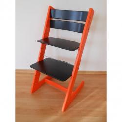 Detská rastúca stolička JITRO KLASIK oranžovo čierna