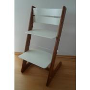 Detská rastúca stolička JITRO KLASIK orechovo biela