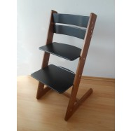 Detská rastúca stolička JITRO KLASIK orechovo čierna