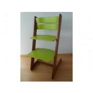Dětská rostoucí židle JITRO KLASIK ořechovo sv. zelená