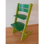 Detská rastúca stolička JITRO KLASIK sv.zeleno - tmavo zelená