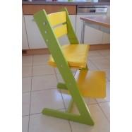 Dětská rostoucí židle JITRO KLASIK sv.zeleno žlutá