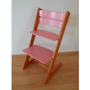 Detská rastúca stolička JITRO KLASIK čerešňovo ružová