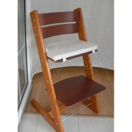 Detská rastúca stolička JITRO KLASIK čerešňovo mahagónová