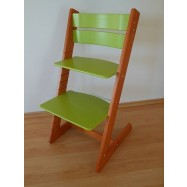 Detská rastúca stolička JITRO KLASIK čerešňovo sv. zelená