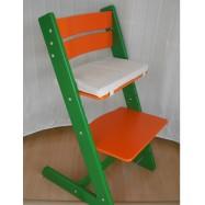 Dětská rostoucí židle JITRO KLASIK zeleno oranžová