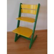 Dětská rostoucí židle JITRO KLASIK zeleno žlutá