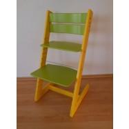 Dětská rostoucí židle JITRO KLASIK žluto sv.zelená