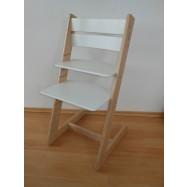 Detská rastúca stolička JITRO KLASIK bukovo biela