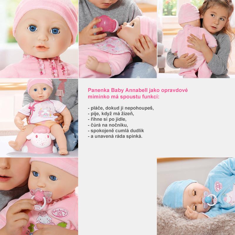 Baby Annabell jako opravdové miminko