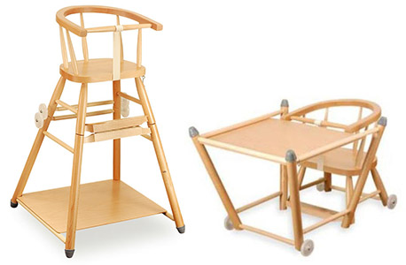 Jídelní židlička dřevěná